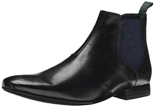Ted Baker Men's Hourb Chelsea Boot, Black Leather, 8.5 M US