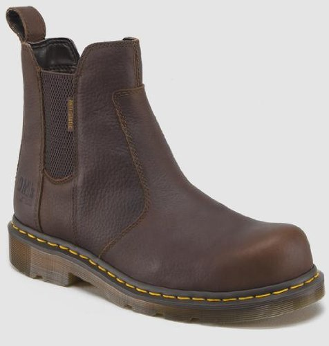 Dr. Martens Men's Fusion Safety Toe Chelsea Boot,Bark,10 UK/11 M US
