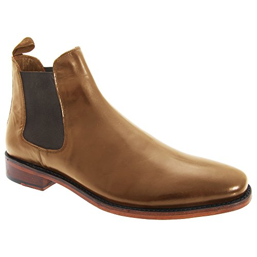 Kensington Classics Mens Twin Gusset All Leather Chelsea Boots (13 US) (Tan)