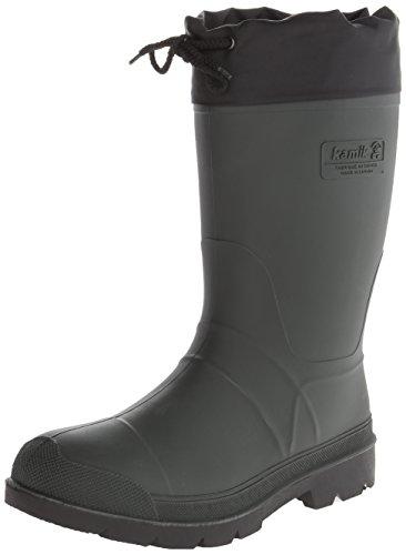 Kamik Men's Hunter Insulated Winter Boot, Khaki/Black Sole, 9 M US