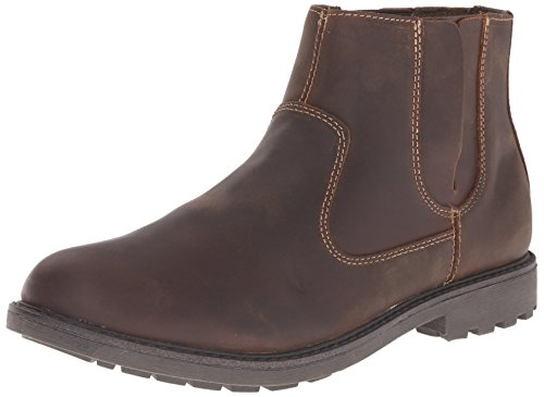 Dockers Men's Rockdale Chelsea Boot, Dark Brown, 12 M US