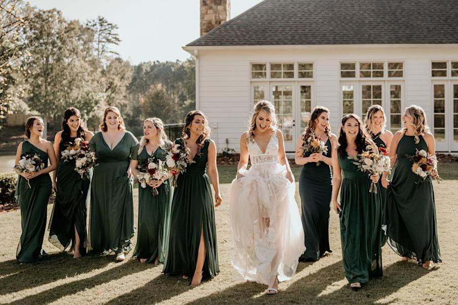 Bridal party wedding day photography