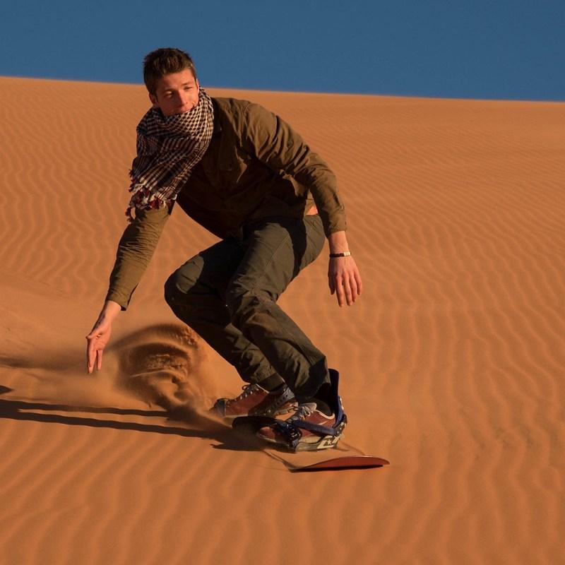 sand baording n merzouga desert