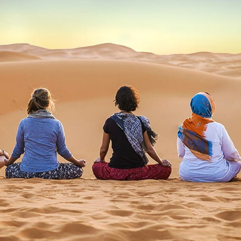 YOGA IN SAHARA DESERT