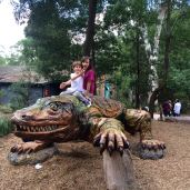 Wrestled a crocodile-looking-like thing.