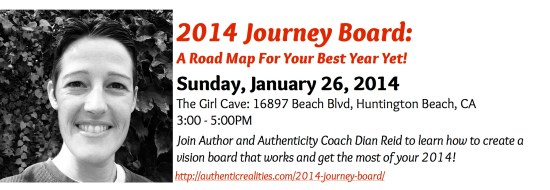 Join Author and Authenticity Coach Dian Reid to learn how to create a vision board that works and get the most of your 2014!