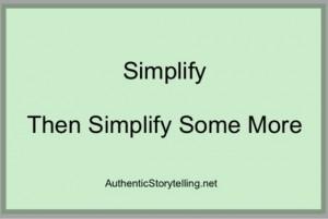 Plain English: Simplify Then Simplify Some More