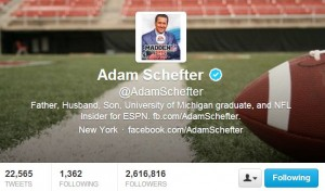 Adam Scheffter is a reliable NFL source