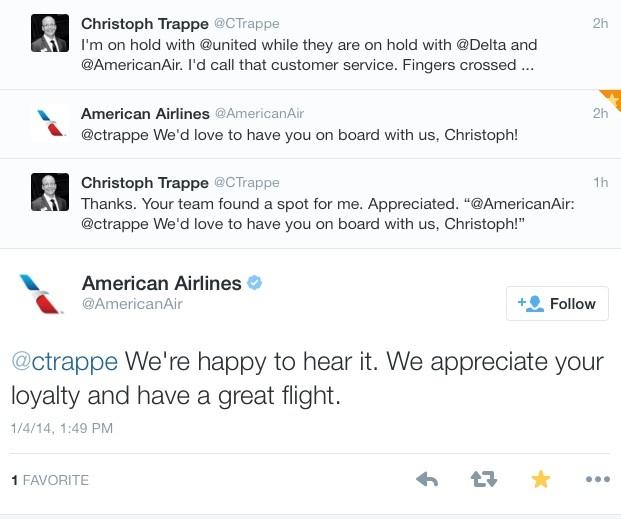 Rescheduling flights tweets