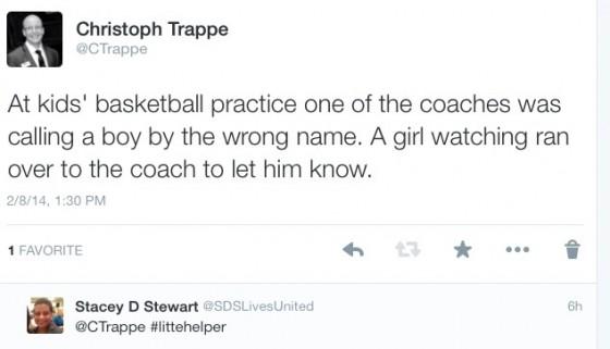 Tweet on basketball practice communication