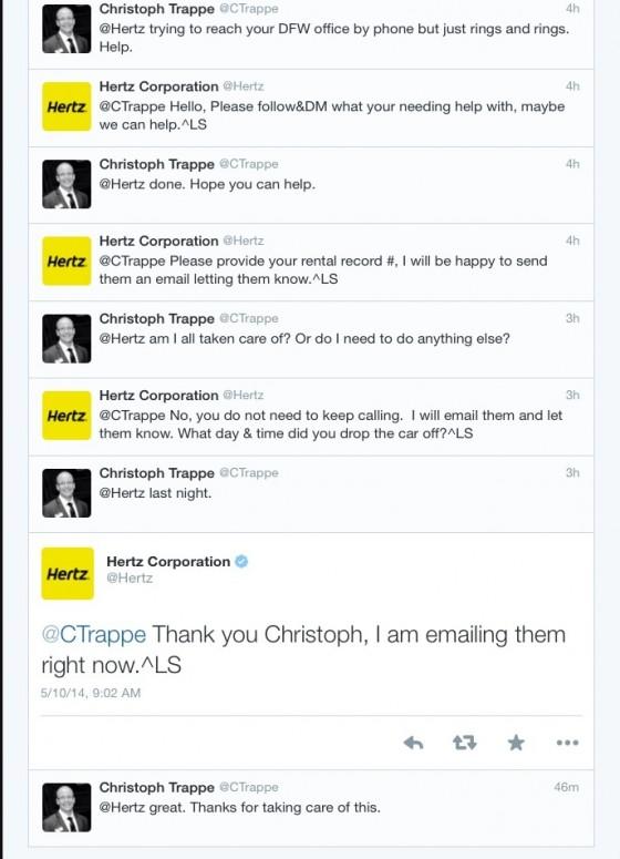 Hertz engages on social media