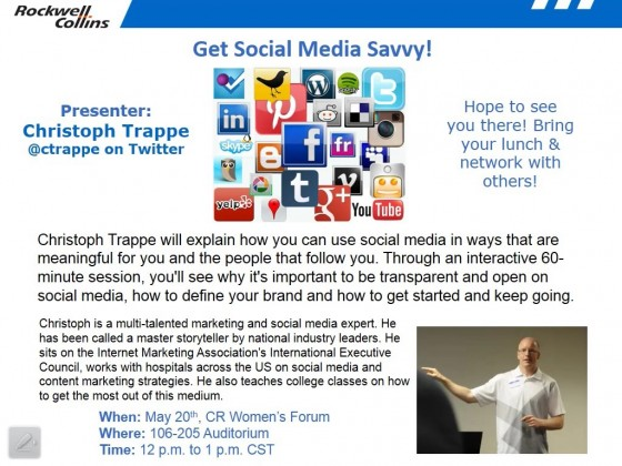 Rockwell Collins Social Media Workshop Christoph Trappe