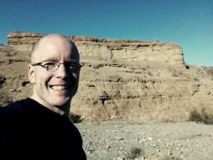 Selfie outside of Vegas in early 2014