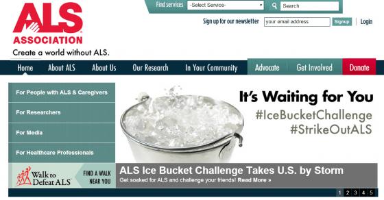 Ice Bucket Challenge ALS website