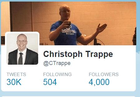 4000 followers on Twitter