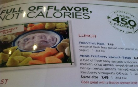 Low-calorie menus