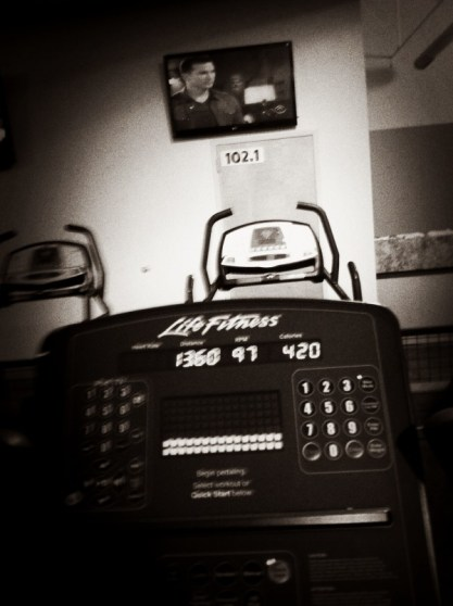 Goals just one more mile on the stationary bike