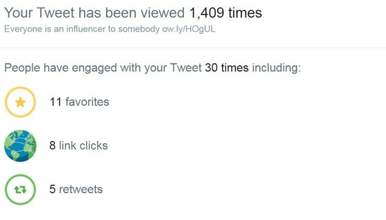 pinned tweet stats