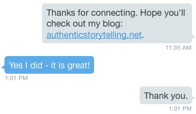 Auto Twitter Direct Message that works