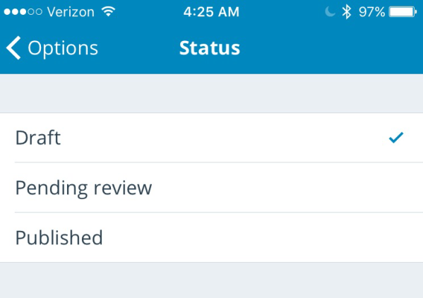 WordPress App: How not to accidentally publish posts you meant to schedule
