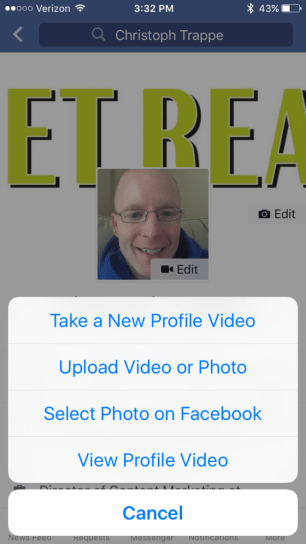 Facebook profile video