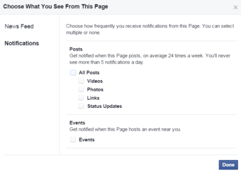 facebook notifications for pages signuo