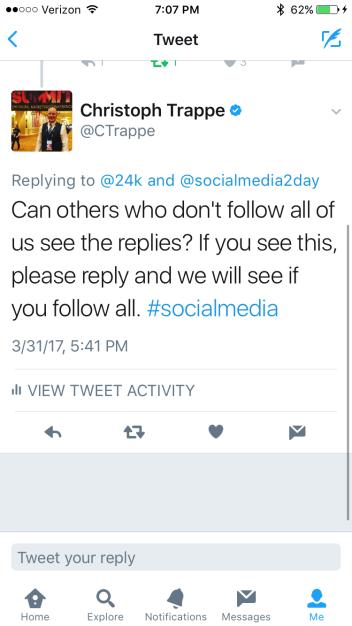 Twitter replies