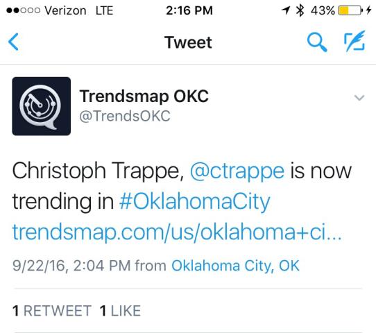 trended in oklahoma city