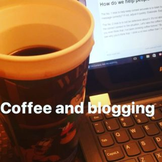 coffee and blogging