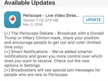 trump clinton masks periscope update