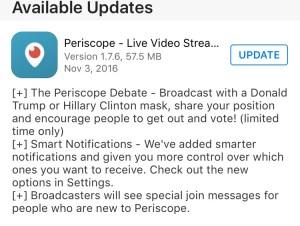 trump clinton masks periscope update
