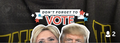 U.S. Election 2016: How to use the new Hillary Clinton and Donald Trump masks on Periscope, the live video app