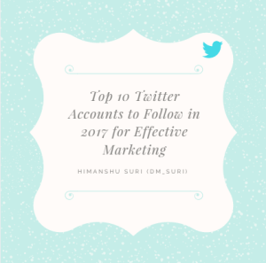 Top twitter accounts to follow for marketing