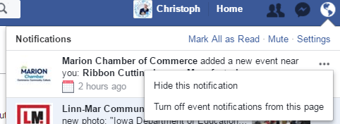 event notifications