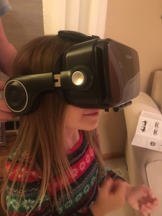 "How do you share a virtual reality headset? ""Let me see, dad!"""