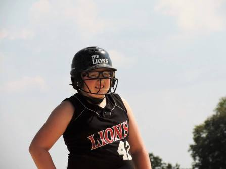 My softball playing daughter