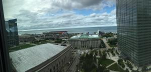 view from the Westin in Cleveland