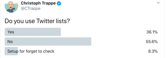 Twitter poll for Twitter lists