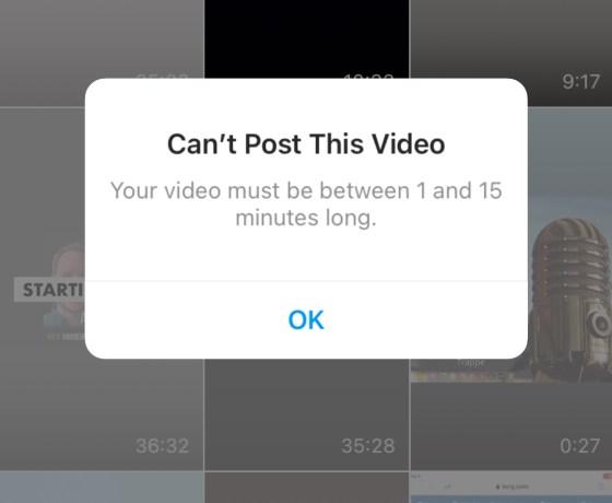 IGTV Video under 15