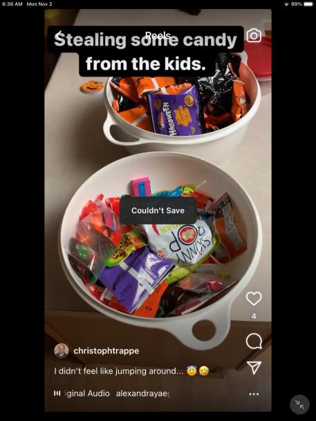 Instagram Reels not saving