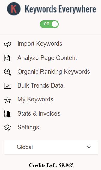 strategic writing with Keywords Everywhere