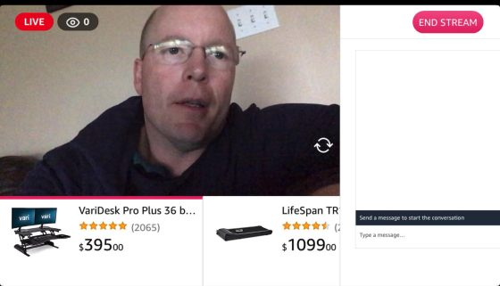 Amazon Live with products