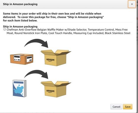 Change original packaging order