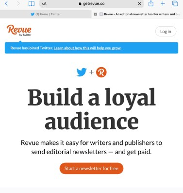 Twitter newsletter signup