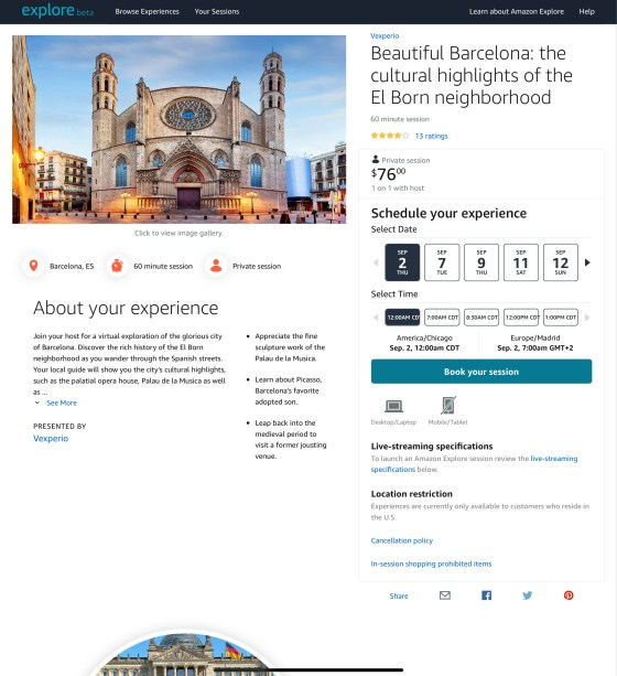 Virtual tour Barcelona