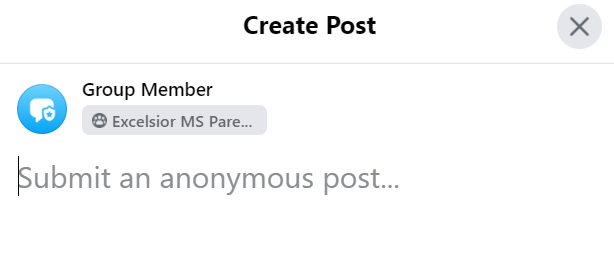 anonymous posts group member title