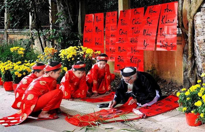 nouvel an vietnamien calligraphies