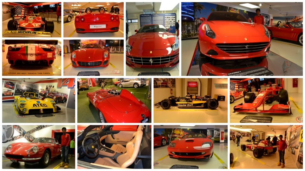Red Ferraris everywhere in Museum