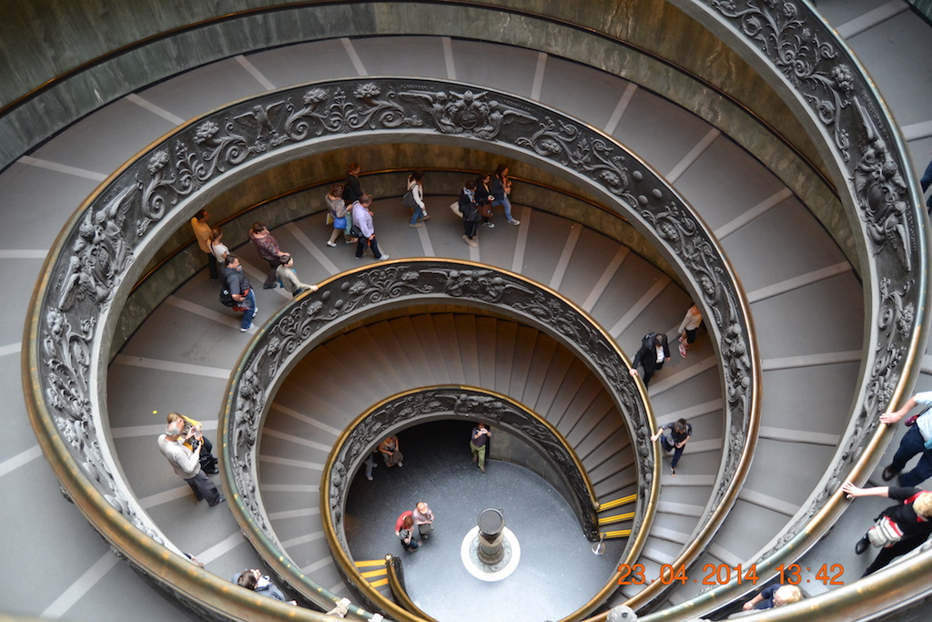 Vatican famous staircase