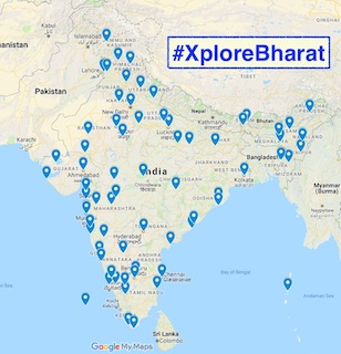Places seen in #XploreBharat campaign